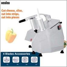 Многофункциональная овощная машина XEOLEO, коммерческая машина для нарезки кубиков картофеля/томатов, Электрический измельчитель сыра, измельчитель овощей