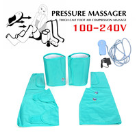 Leg Pressure Massager Therapy Healthcare Air Compression Massage Foot Ankle Wrap Simulates Pumping Action Soothes Muscle Fatigue