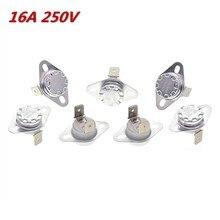 5Pcs 16A 250V KSD302 40~85 Degrees Thermostat Temperature Thermal Control Switch NO/NC
