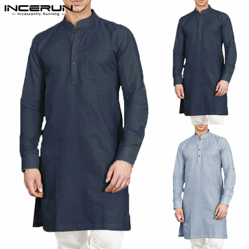 Detail Feedback Questions About Incerun Casual Men Shirt Cotton Long
