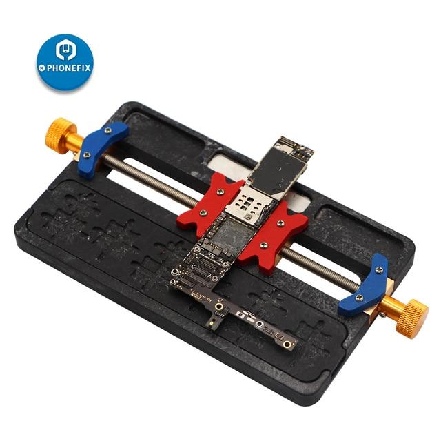 Telefone móvel ferramenta de reparo solda placa mãe pcb titular gabarito fixação com ic localização para iphone mainboard repair