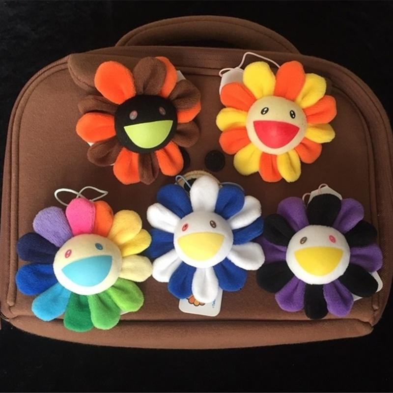 Cute Sunflower Plush Brooch Sun Flower Bag Hanging Ornaments Bag Pendant For Girl Gift