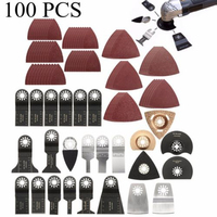 100pcs/Set oscillating Multi Tools Brand New And High Quality material Saw Blade Accessories Kit For Fein Bosch