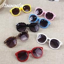 iboode Retro Vintage Kids Sunglasses UV400 Brand Designer 2018 Children's Sun Gl