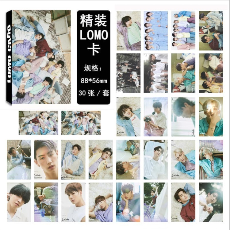 Kpop Got7 Present You Lullaby Self Made Paper Lomo Photo Card Bambam Jackson Fans Collective Cards Hd Photocard 30pcs/set Beads & Jewelry Making