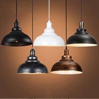 Vintage E27 Pendant Lights Iron Loft Retro Lamp Nordic Hanging Restaurant Kitchen Bar Luminaire Industrial Wind Rust Lamps