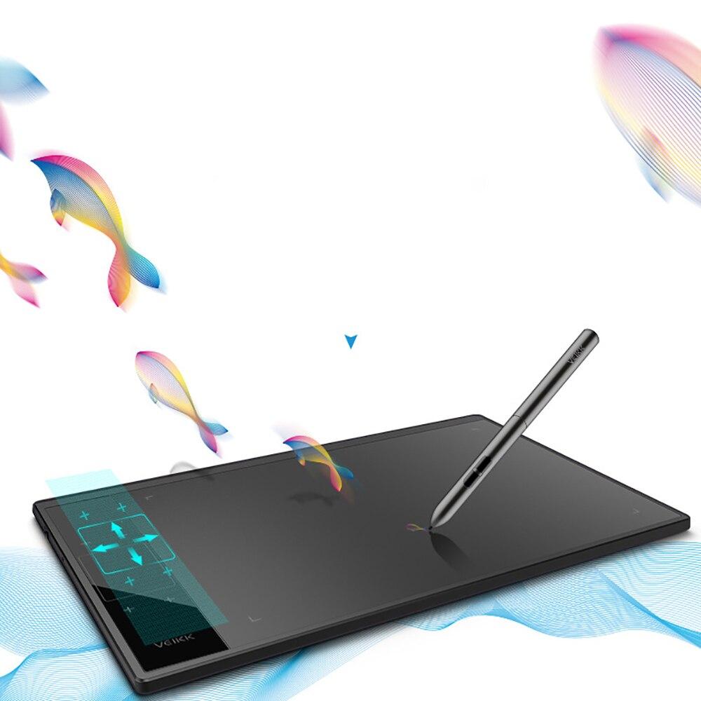 Tablette de dessin graphique numérique VEIKK A30 10*6 pouces avec stylo passif 8192 niveaux pour geste main gauche/droite