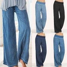 93e1b5fd3d42 Più il Formato Celmia Del Denim Delle Donne Pantaloni Larghi del Piedino  Dei Jeans Dei Jeans