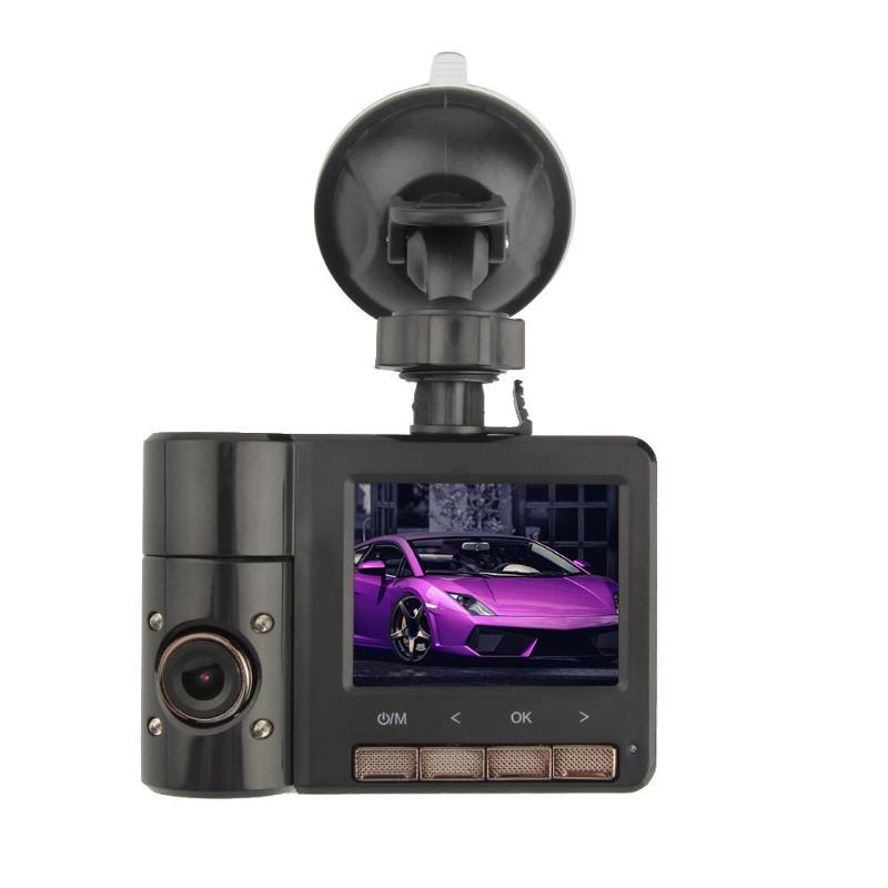 Anytek 2.31 pouces 1080 P double lentille voiture Dash caméra enregistreur vidéo IR Vision nocturne Dash Cam boucle enregistrement B60 voiture DVR caméra