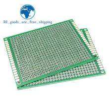 6*8 6X8 см двухсторонний Прототип pcb Универсальный макет печатная плата для Arduino 1,6 мм 2,54 мм Стекловолокно