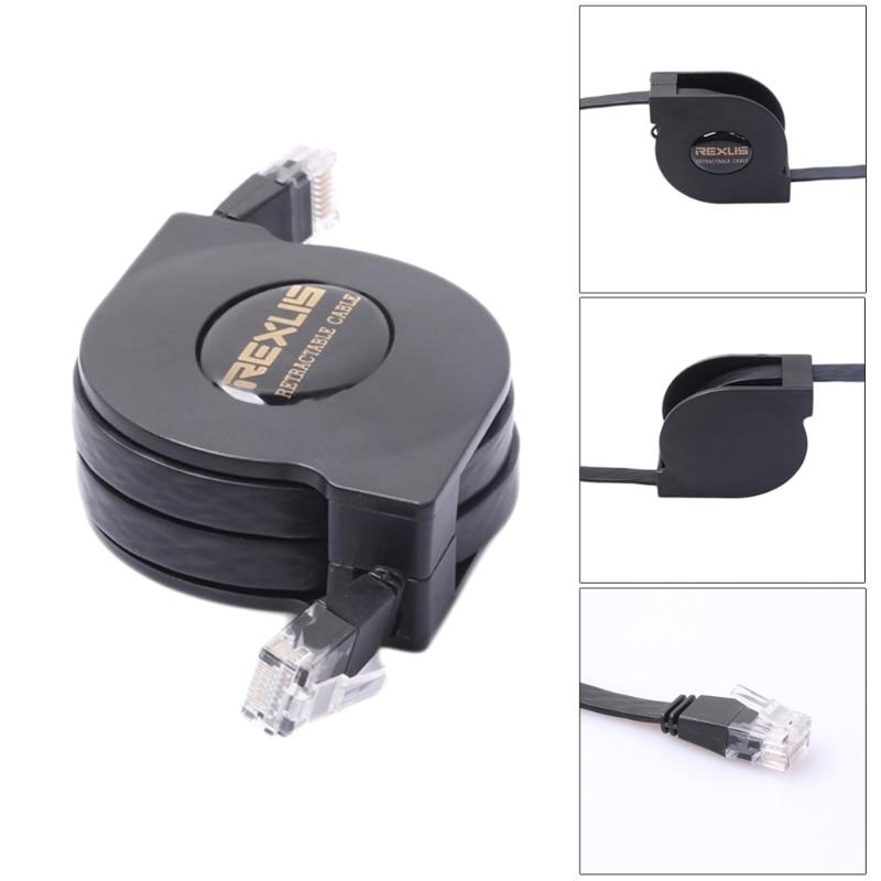 Tcam Ethernet Rétractable Cat6 Câble Réseau Cuivre 1 Gbp Évolutive Plat Câble Lan