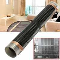 60 degrés 50cmx2/4/6 m électrique maison plancher infrarouge chauffage par le sol tapis de Film chaud