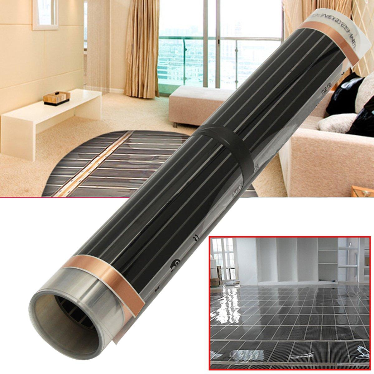 60 graus 50cmx2/4/6 m Piso Casa Infravermelho Elétrico de Aquecimento Por Piso Radiante Mat Filme Quente