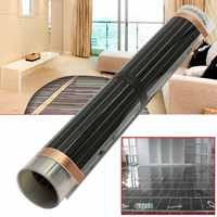60Degree 50cmx2/4/6m Electric Home Floor Infrared Underfloor Heating Warm Film Mat