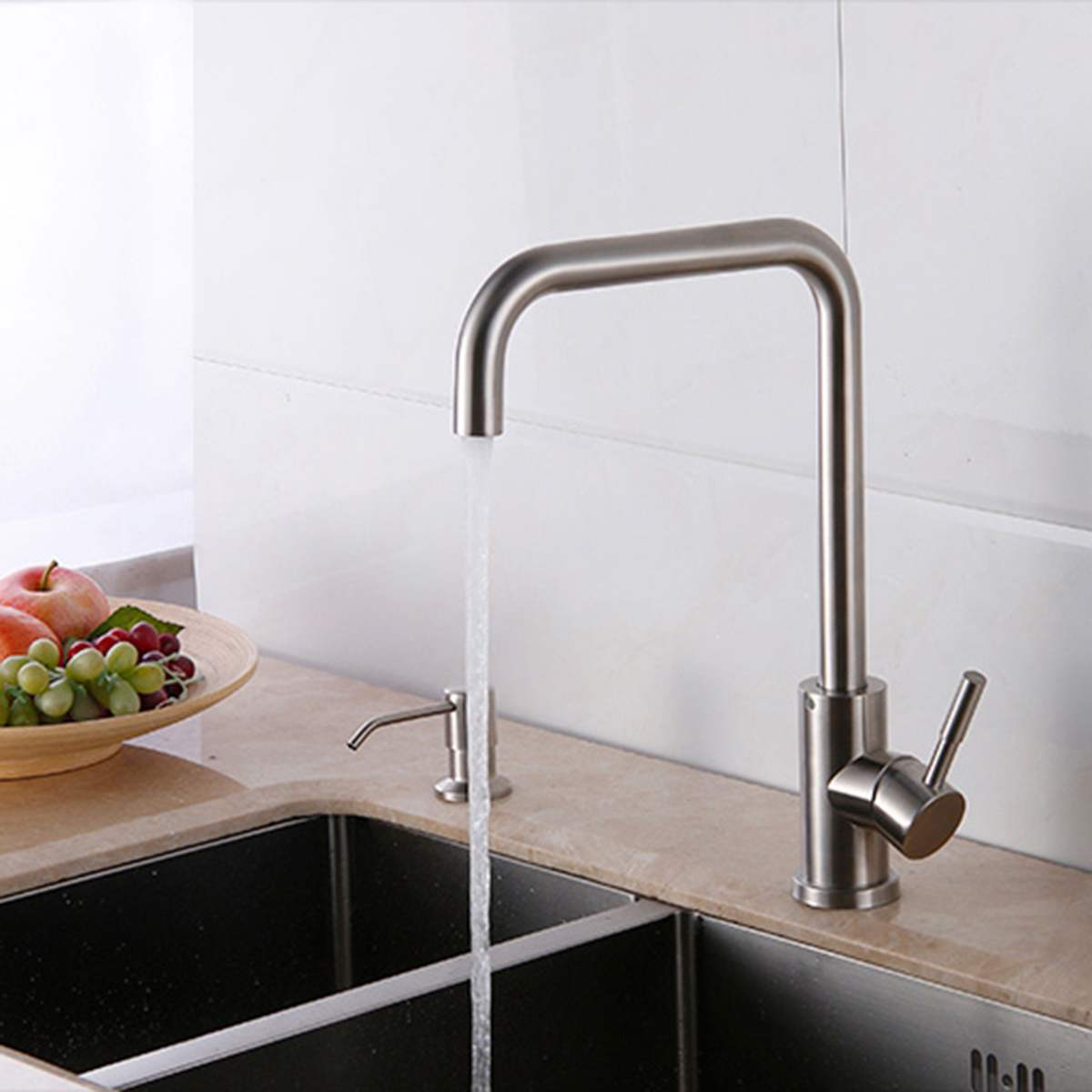 Stainless steel Kitchen Faucets Single Handle Pull Out ceramic Single Hole Handle 360 Degree Water Mixer Tap Mixer hot cold Tap micoe pull style hot and cold water kitchen faucet mixer single handle single hole modern style chrome tap 360 swivel m hc103