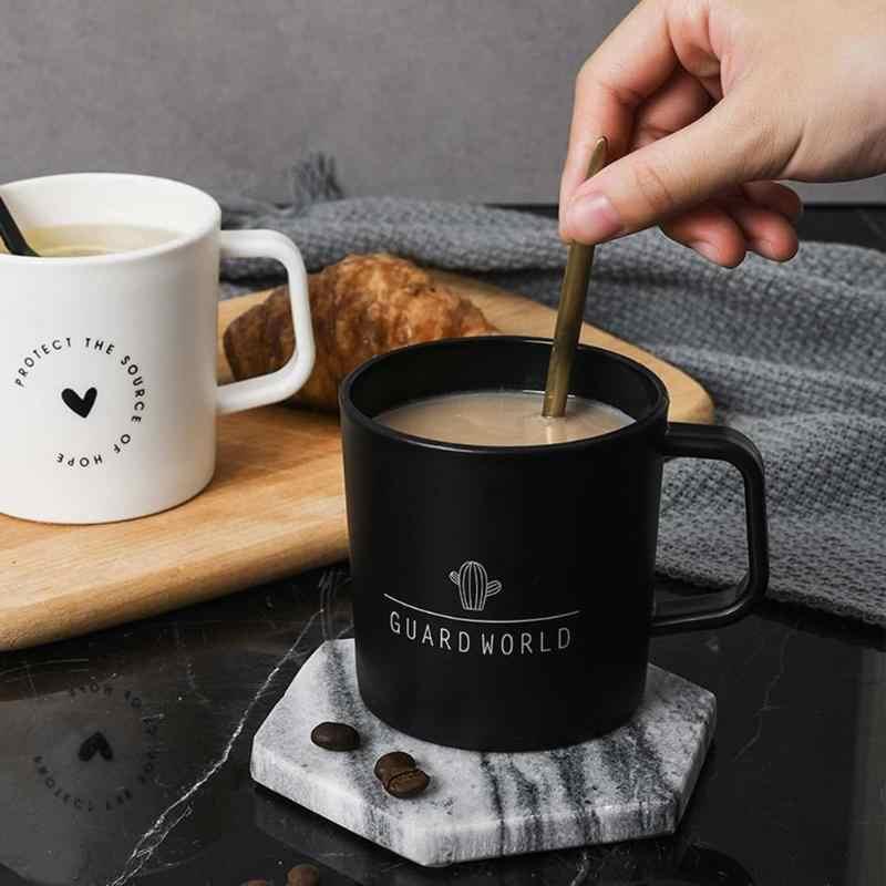 Kreatif Plastik Mug dengan Tutup Kaktus Cinta Pola Cangkir Air Bpa Gratis Kantor Kopi Susu Antibreakdrinkware Sederhana Klasik Mug