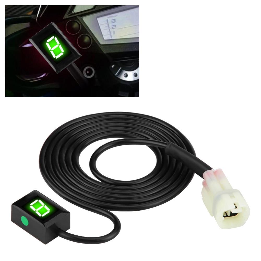Motorcycle ECU Plug Mount 6 Speed Digital Gear Indicator Display Shift Lever Sensors for CB400F CB500X CB650F Motorcycle Gear Indicator
