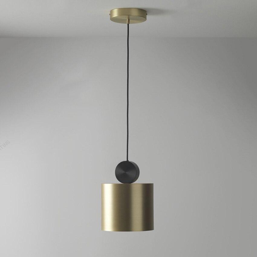 LED en cuivre moderne lampe pendante salon couloir Restaurant Luminaire Suspendu lampes pendantes Bar café modèle chambre pendantes