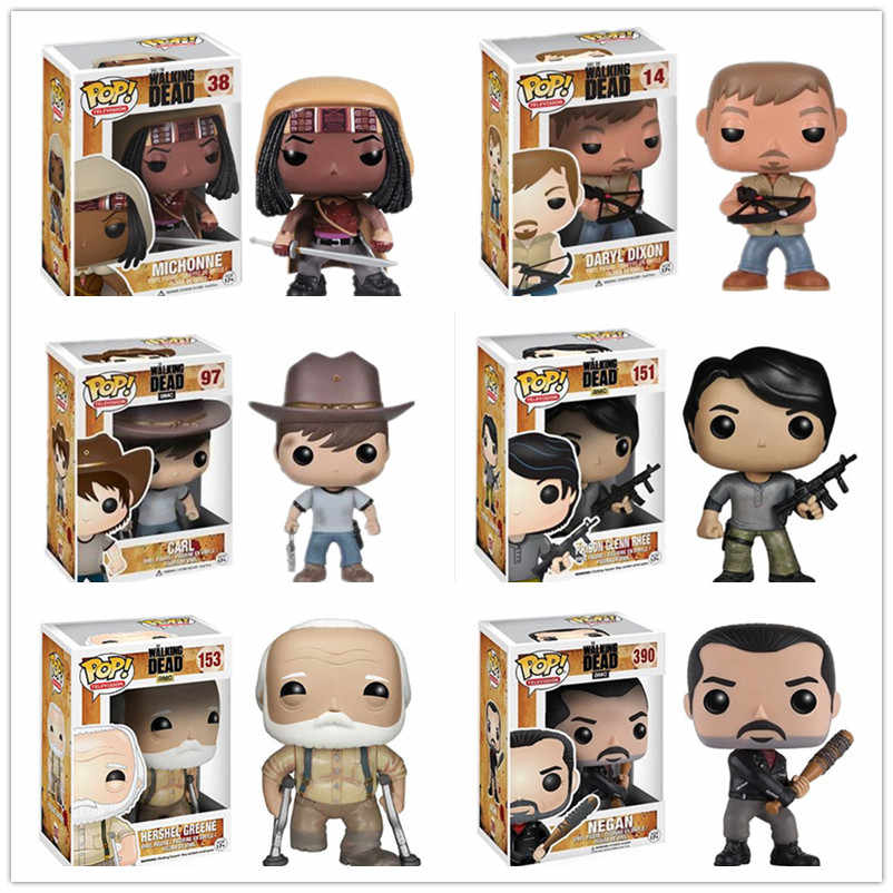 Funko POP The Walking Dead Carattere #151 Glenn #38 Michonne #97 Carl Action Figure Toy Model #14 Daryl Bambola In Vinile Regalo Di Compleanno