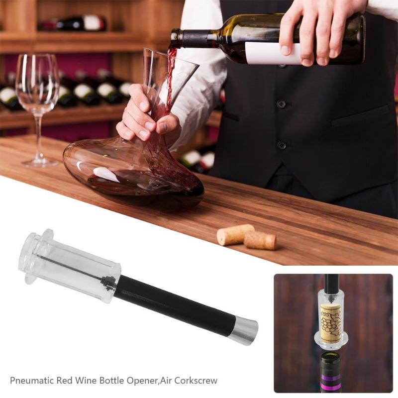 Pneumatic Red Wine Opener Air Pressure Cork Popper Bottle Pumps Corks Manual Corkscrews Screw Kitchen Supplies