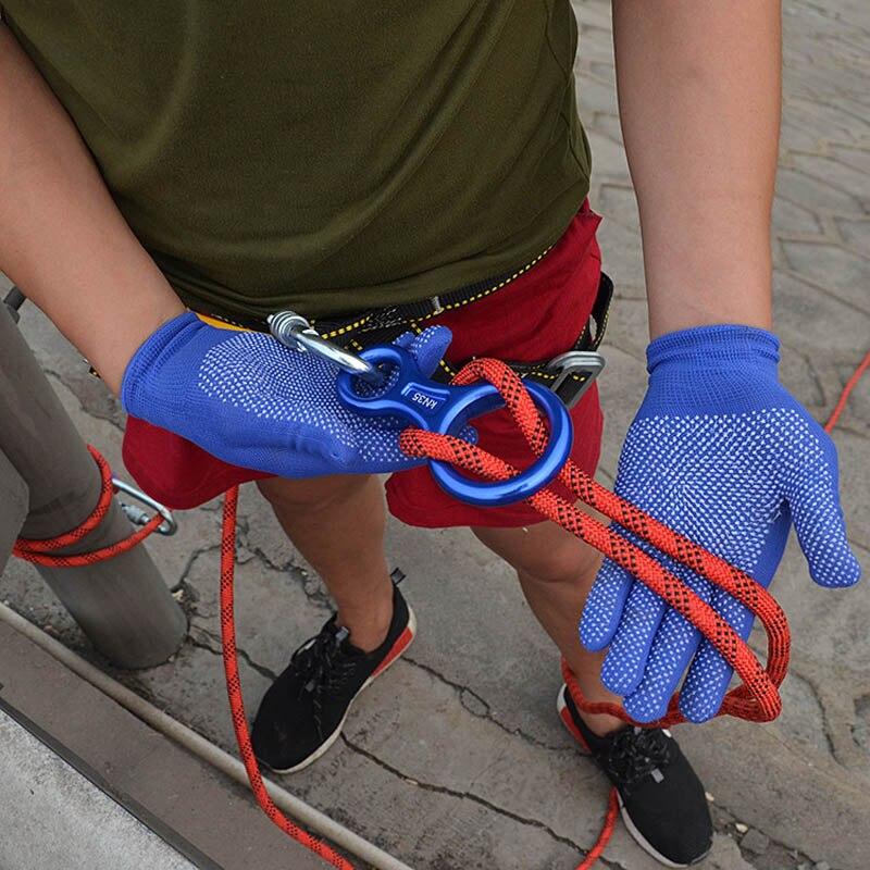 Corde d'escalade professionnelle de 20m x 10mm avec 2 crochets corde de sauvetage extérieure corde de sécurité randonnée rayé boucle survie - 5