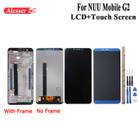 Alesser For NUU Mobile G2 LCD Display and Touch Screen +Frame Assembly Repair Parts With Tool +Adhesive For Cubot X18 Plus LCD