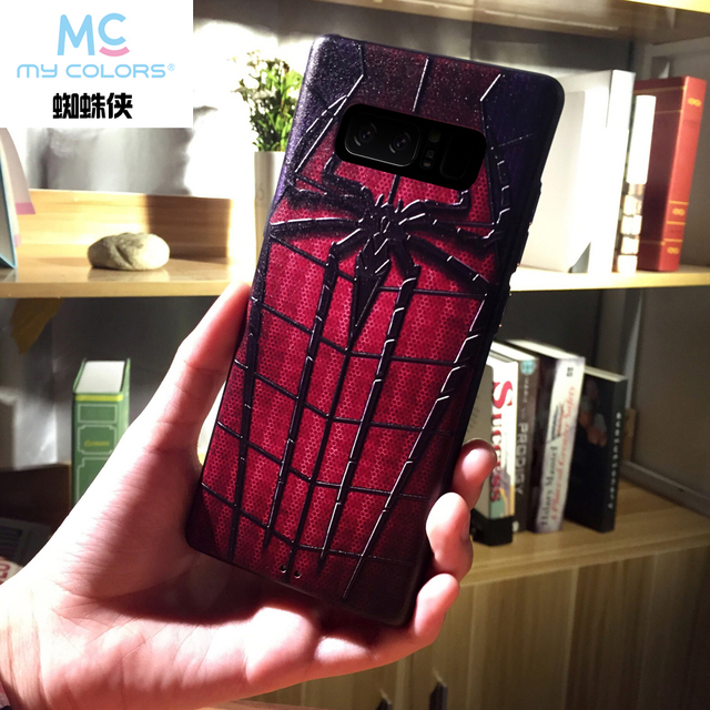 low price f1369 3277c US $3.76 18% OFF|Marvel soft phone case For Samsung Galaxy s8 s9 plus Note  8 9 note8 luxury Back Cover Soft Silicon cases Spiderman iron Man capa-in  ...