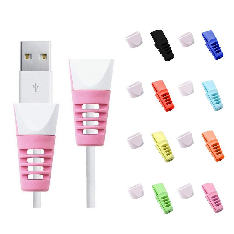 USB Cable Saver Protector Cable Bite Protector For Iphone Cable Bite Mobile Phone Connector Accessory 8 Colors Randomly Delivery