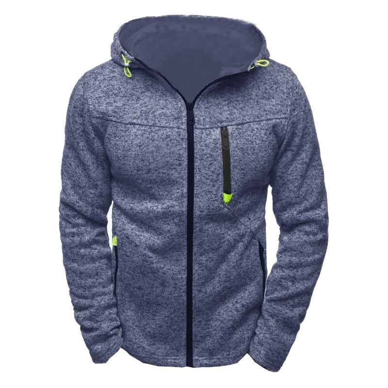 Hoody Sweatshirt Fleece Travel Hiking Zipper Outdoor Male Men Tracksuit Cardigan Frosted