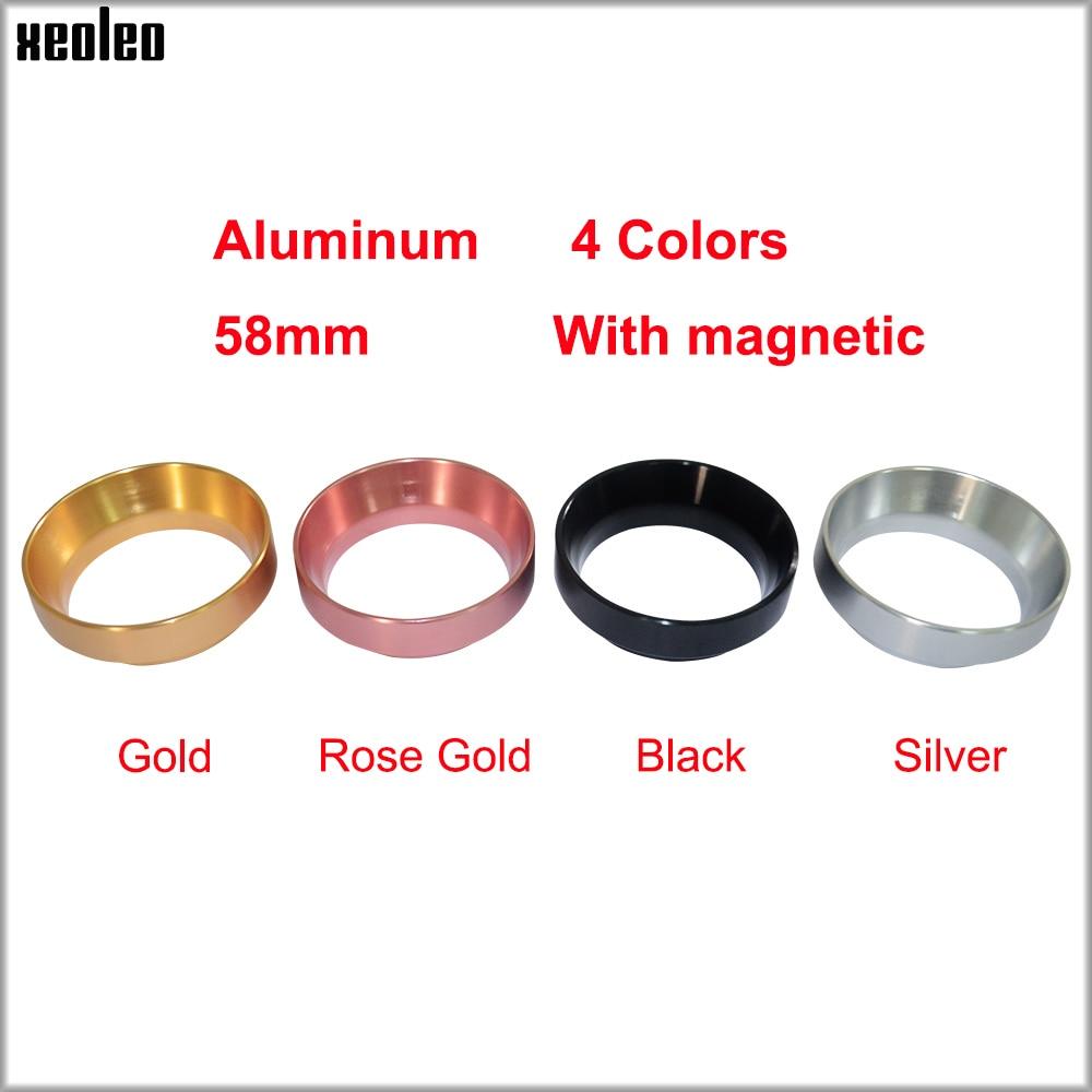 XEOLEO Aluminuml Dosing Ring Intelligent Coffee powder ring 58MM Coffee Powder Brewing Bowl Espresso Barista Tool With magnetic origo klassik barista 1000 г