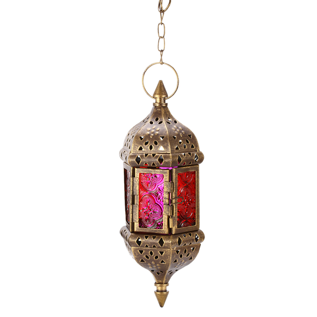 Mayitr 1pc Moroccan Style Wall Hanging Candle Holder Clic Metal Stick Lantern For Wedding