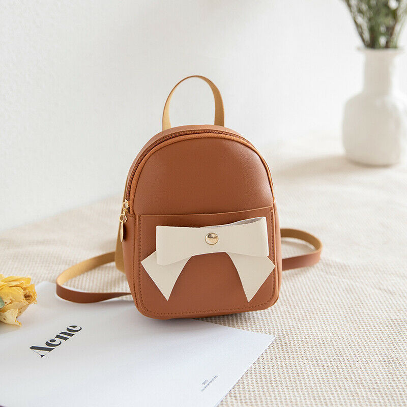 Newest Fashion Girl 39 s Leather Mini Backpack Girls Cute Bowknot Small Travel Casual Shoulder Bag in Plush Backpacks from Toys amp Hobbies