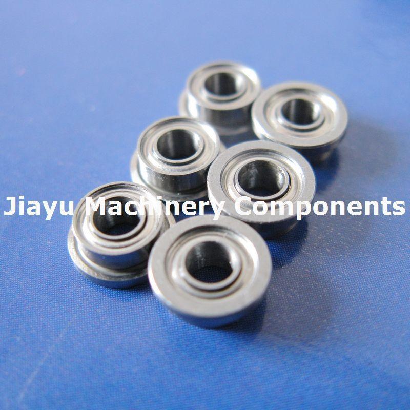 Free Shipping 10 PCS SFR133ZZ Flanged Bearings 3/32 X 3/16 X 3/32 Inch Stainless Steel Flange Ball Bearings DDRIF-3332ZZ