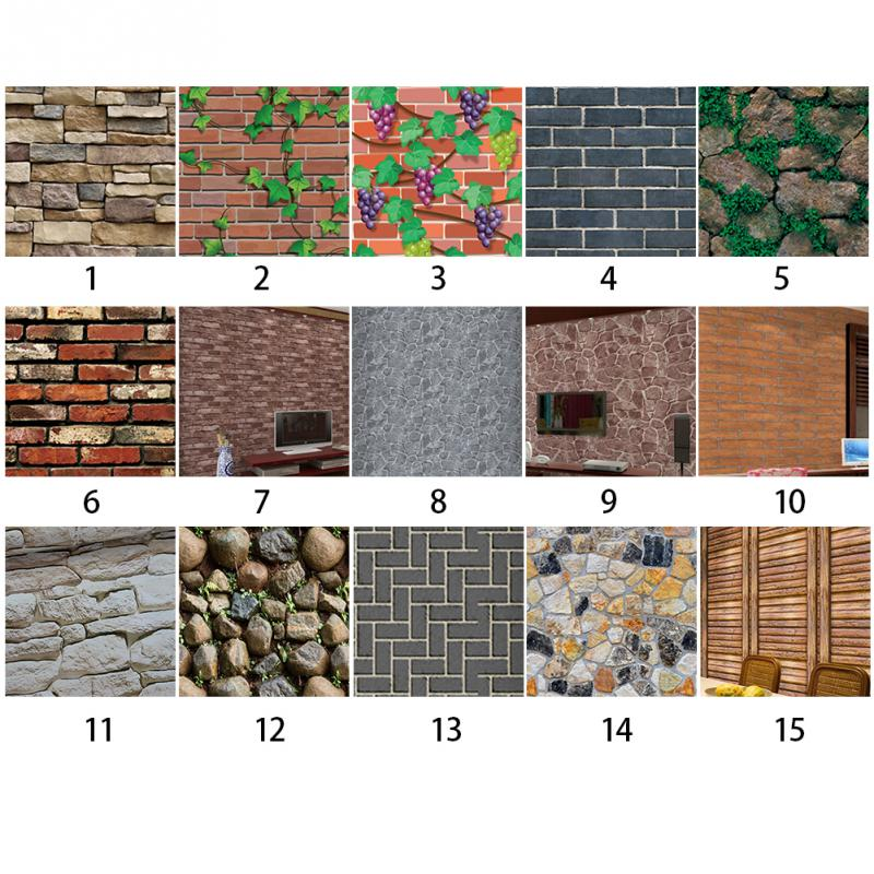 Antique Stone Self Adhesive Wallpaper Waterproof Stone Wallpapers Brick Wall Paper Decorative Wall Stickers(China)
