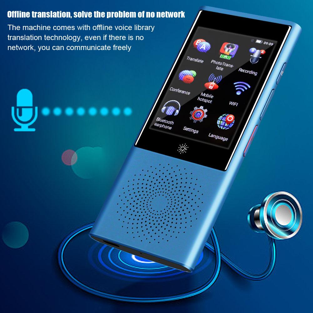 Portable voice translator AI Smart Touch Screen Global Business Travel Real Time Translator 45 Multi language
