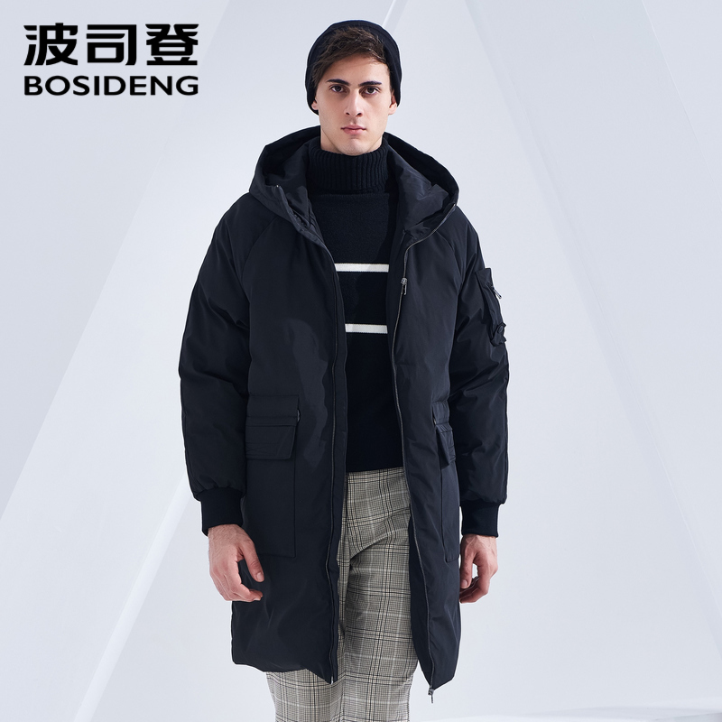 BOSIDENG 2018 New Winter Down Coat For Men Duck Down Jacket Long Parka Winter Thicken Outwear Hooded Waterproof B80141501DS(China)