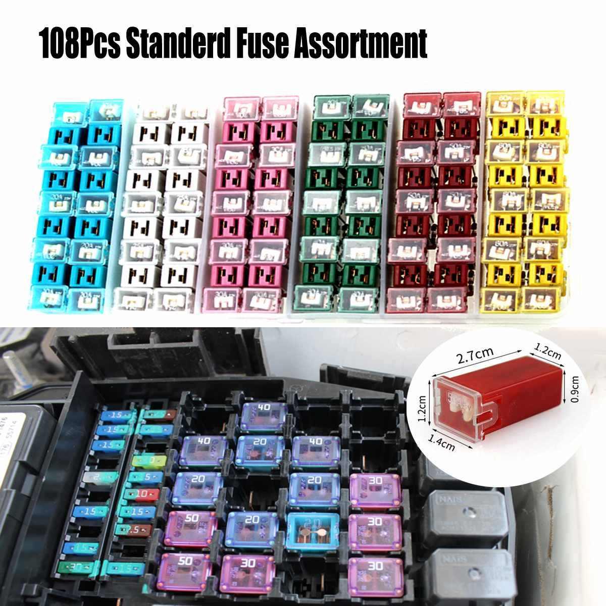 9/12/24/30/60/108pcs Car Fuse Box Automotive Japanese Auto Fuse Box Kit PAL  LOW PROFILE JCASE Box Shaped Fuse Kit for Toyota| | - AliExpresswww.aliexpress.com