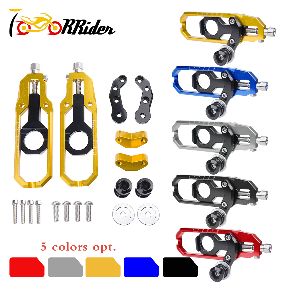 Motorcycle <font><b>Parts</b></font> Chain Adjusters Tensioner Catena w/ Spool CNC for <font><b>Suzuki</b></font> GSXR600 GSXR750 <font><b>GSXR</b></font> 600 <font><b>750</b></font> 2006 2007 2008 2009 2010 image