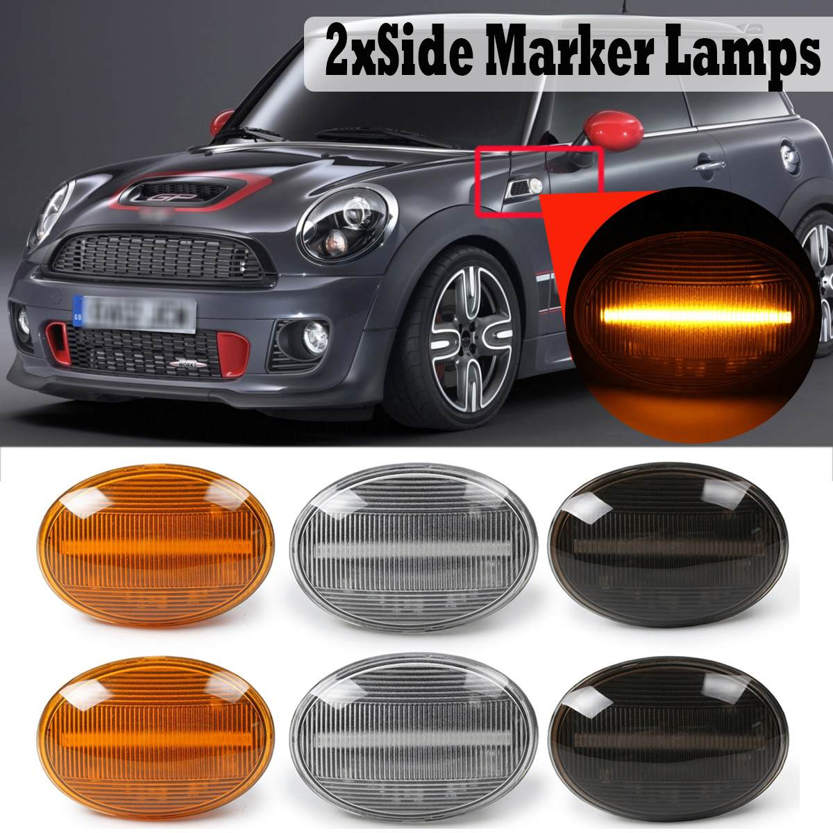 2pcs Xenon Side Light W5W Bulbs White Canbus ERROR FREE 9SMDs For Mini Cooper S