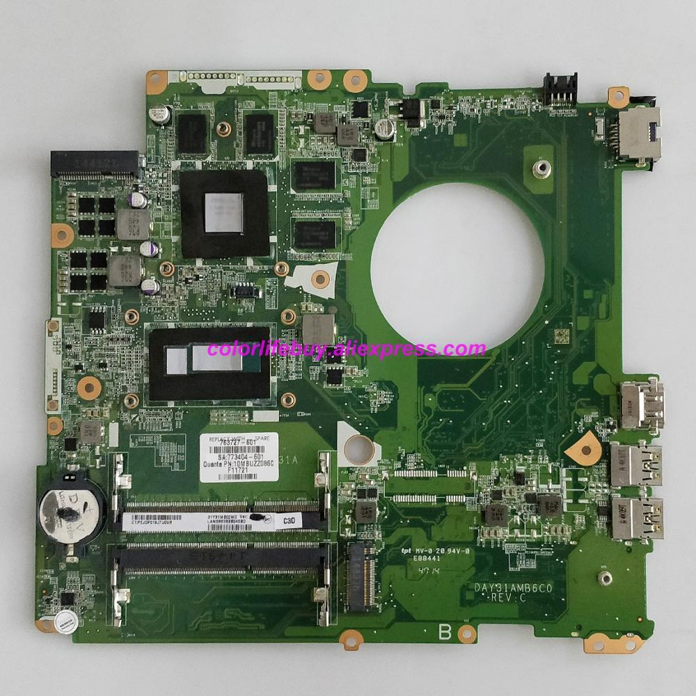 Genuine 763727-601 763727-001 763727-501 DAY31AMB6C0 850M/4GB i7-4510U Laptop Motherboard for HP ENVY 17T-K000 17-K NoteBook PC