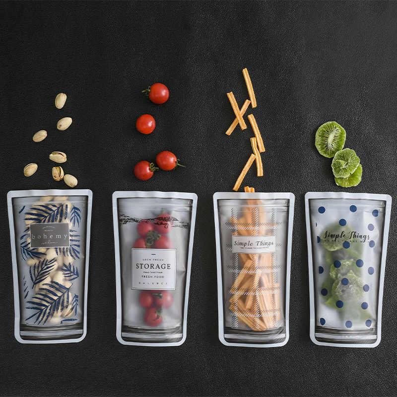 BalleenShiny PET 4 pçs/set Bolsos de Vedação Alimentos Fosco Sacos de Nozes Frutas Secas Lanche Conservante Neaten Moisture-proof Pouch