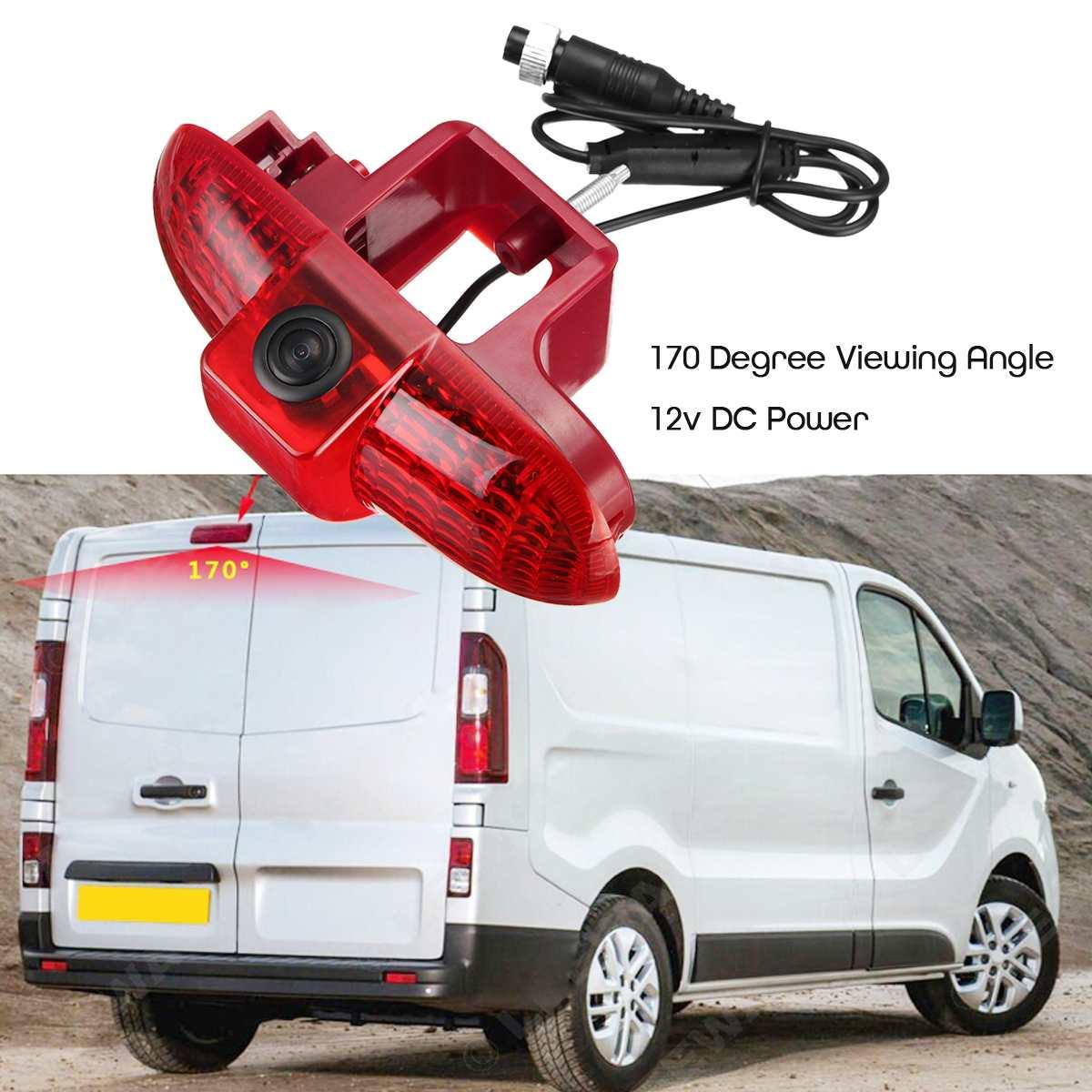 170 grados de coche de copia de marcha atrás cámara de Vista trasera de la luz de freno para Renault Trafic 2001-2014 Cable de extensión de 10 M