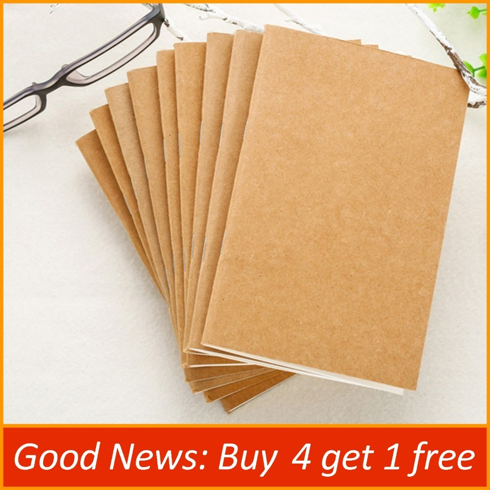 Handmade Genuine Leather Notebook Refill Inserts Replace Inner Core Sketchbook Planners 4 Size Travel Diary Journals