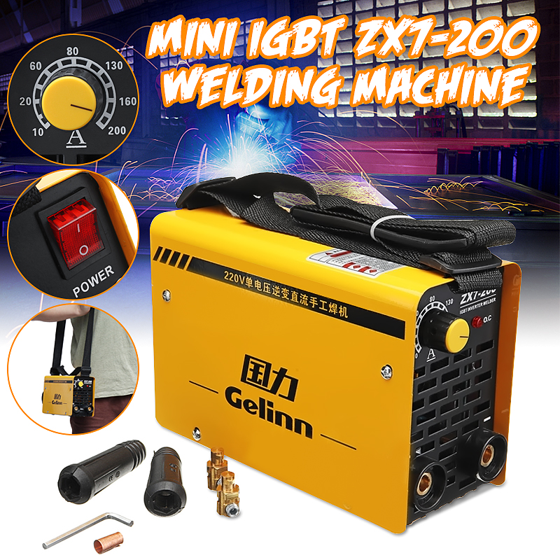 IGBT 20-200A 220V Inverter Arc Electric Welding Machine MMA W elder for Welding Working and Electric Working ZX7-200 футболка print bar легенды завтрашнего дня