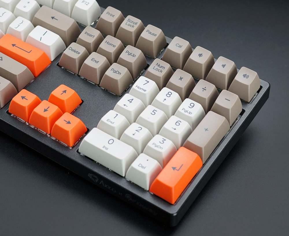 AKKO Tuş Mekanik Klavye Keycaps Buhar Motoru 108 Anahtar SA Profil PBT Keycaps SA Tuş Takımı Mekanik Klavye için