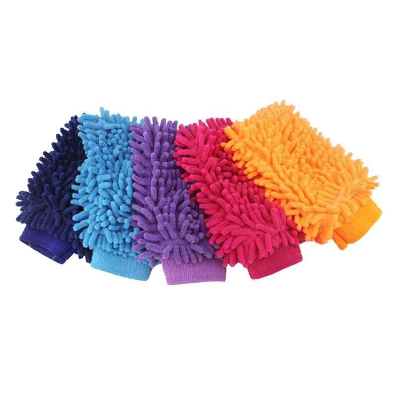 1Pc 極細ファイバーシェニール花虫類洗車手袋ブラシマイクロファイバーカーオートバイワッシャーカーケアクリーニングブラシ新