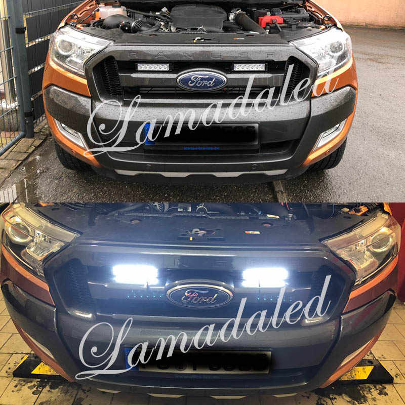 2pcs 16cm Split Led Car Grille Strobe Lights Bar Automobile Flash Lamp Stroboscope Police Led Warning Light Beacon Red Blue