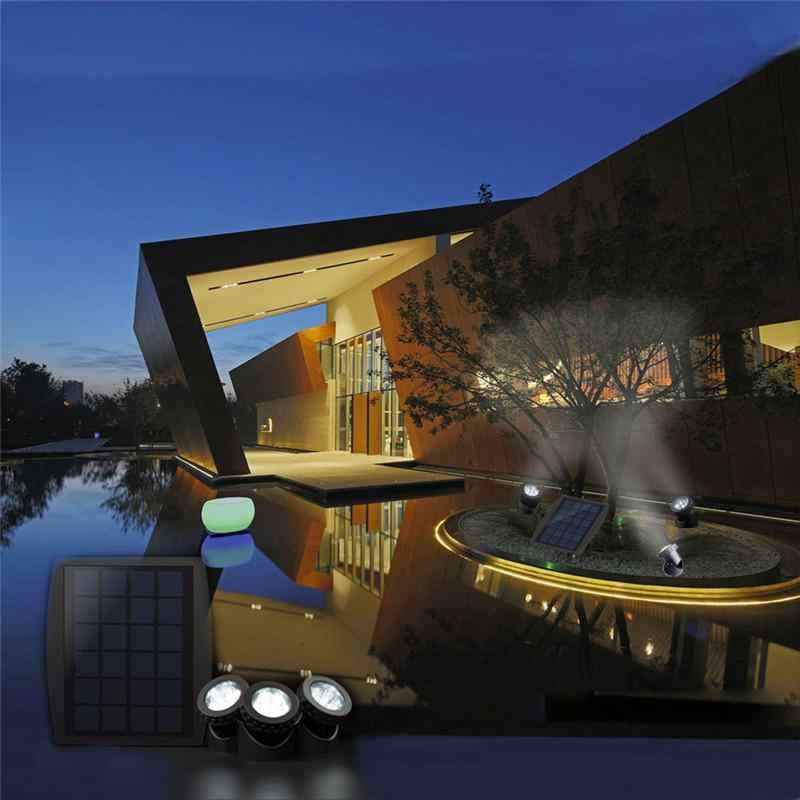 Adeeing светодиодный свет RGB для использования в грунтовых водах точечная лампа на солнечных батареях подводная лодка проектор свет для сада пруд Бассейн Танк украшение