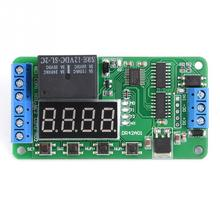 цена на 12V Dual Channel Multifunctional DPDT Delay Timer Relay Time Control Switch DR42A01 relay board Hot Sale