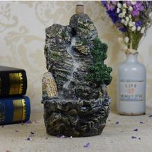 Rockery Incense Burner Smoke Waterfall Backflow Holder Mountain River Handicraft Ceramic Censer